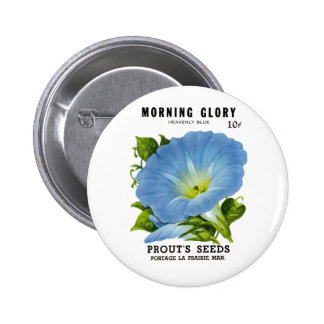 Morning Glory Vintage Seed Packet Button