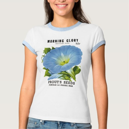 Morning Glory Vintage Seed Packet Tshirt
