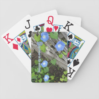 Morning Glory Watercolor Bicycle Playing Cards