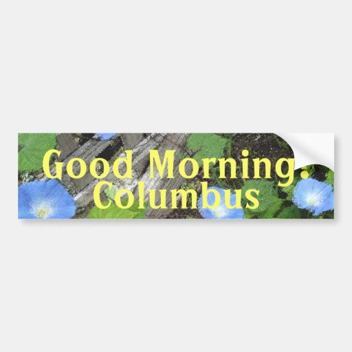 Morning Glory Watercolor Bumper Sticker