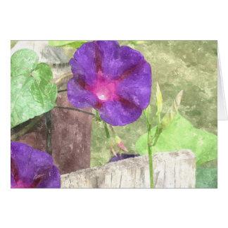 Morning Glory Watercolor Card
