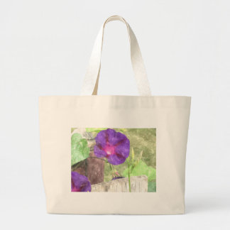 Morning Glory Watercolor Tote