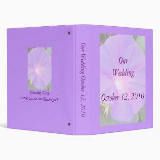 Morning Glory Wedding Album Vinyl Binder