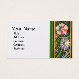 MORNING GLORY WHITE PEARL PAPER BUSINESS CARD