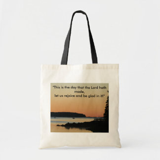 """Morning glow, """"This is the day!"""" Tote Bag"""