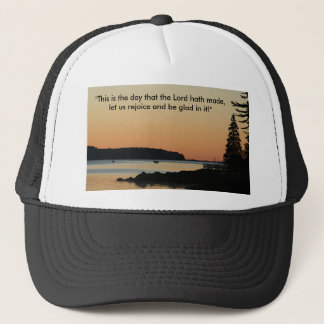 """Morning glow, """"This is the day!"""" Trucker Hat"""