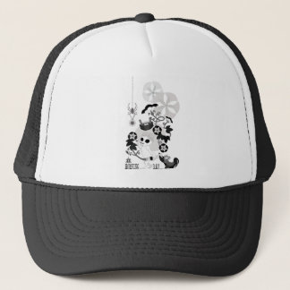 MORNING GRAY MONOCHROME TRUCKER HAT