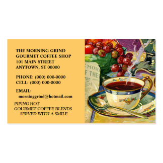 MORNING GRIND COFFEE SHOP CAFE BUSINESS CARDS
