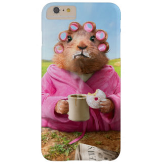 Morning Groundhog with Breakfast Donut and Coffee Barely There iPhone 6 Plus Case