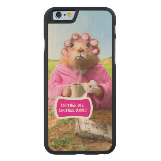 Morning Groundhog with Breakfast Donut and Coffee Carved® Maple iPhone 6 Slim Case