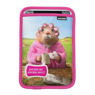Morning Groundhog with Breakfast Donut and Coffee iPad Mini Sleeve