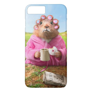 Morning Groundhog with Breakfast Donut and Coffee iPhone 7 Plus Case
