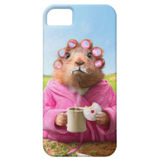 Morning Groundhog with Breakfast Donut and Coffee iPhone SE/5/5s Case