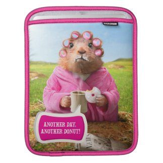 Morning Groundhog with Breakfast Donut and Coffee Sleeve For iPads