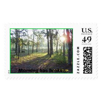 Morning has broken_30, Morning has broken Postage Stamp