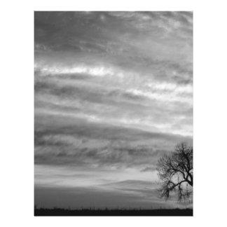 Morning Has Broken Like the First Gentle Breeze BW Customized Letterhead