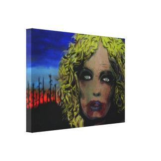 'Morning has Broken' Zombie Canvas Print
