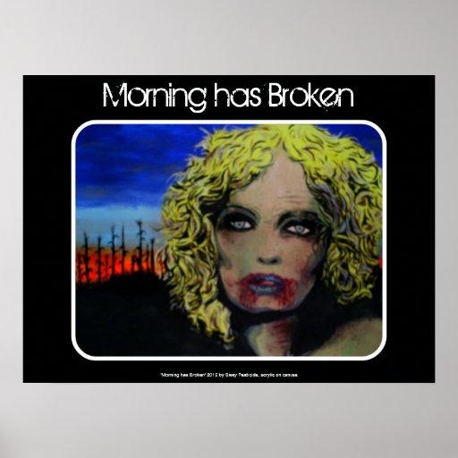 'Morning has Broken' Zombie Poster