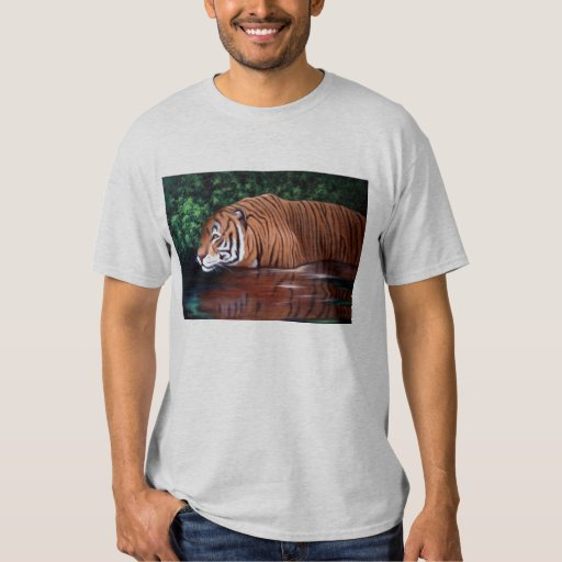 MORNING HUNT- TIGER IN WATER TSHIRTS