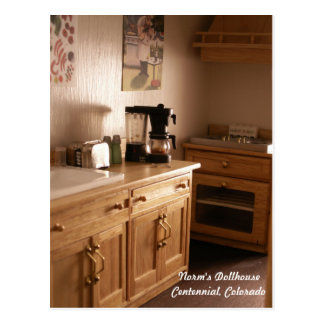 Morning in a Dollhouse Kitchen Postcard