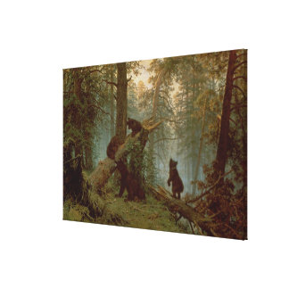 Morning in a Pine Forest, 1889 Gallery Wrap Canvas