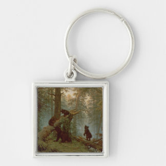 Morning in a Pine Forest, 1889 Keychain