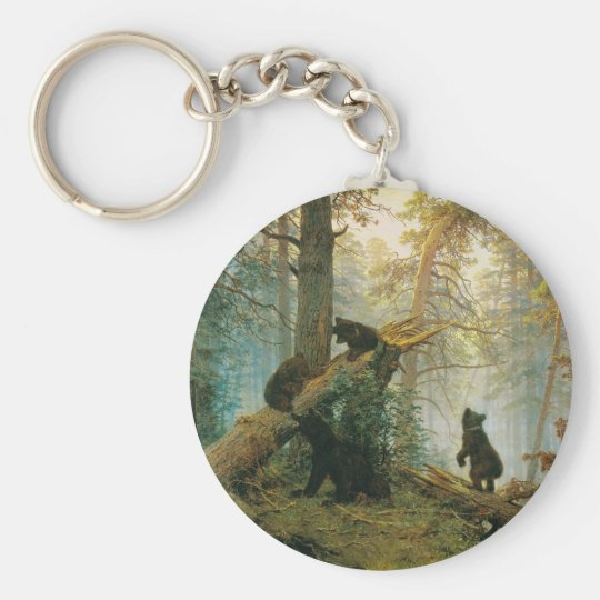 Morning in a Pine Forest by Ivan Shishkin Keychain