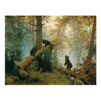 Morning in a Pine Forest by Ivan Shishkin Postcard