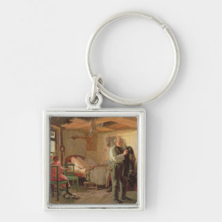 Morning in a Porter's Lodge, 1874 Silver-Colored Square Keychain