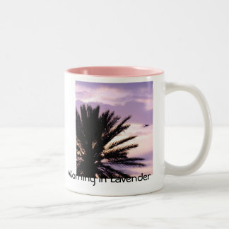 Morning In Lavender Two-Tone Coffee Mug