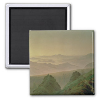 Morning in the Mountains 2 Inch Square Magnet