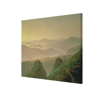 Morning in the Mountains Stretched Canvas Prints