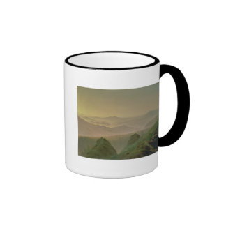 Morning in the Mountains Ringer Coffee Mug