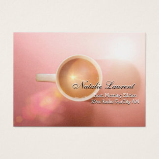 "Morning Java Elegant  Professional 3.5"" x 2.5"" Business Card"