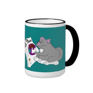 Morning Kitty Kibble Ringer Mug