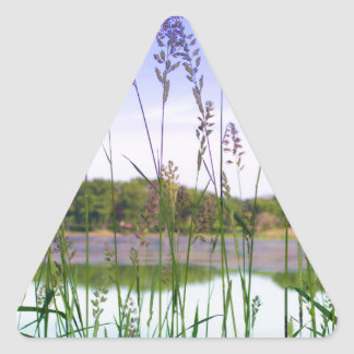 Morning Lake Light Triangle Sticker