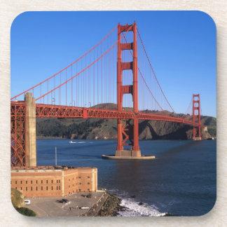 Morning light bathes the Golden Gate Bridge Beverage Coaster