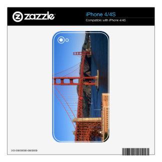 Morning light bathes the Golden Gate Bridge iPhone 4S Decal
