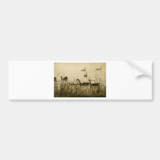 Morning Light Canadian Geese Pond Silhouette Bumper Sticker