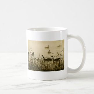 Morning Light Canadian Geese Pond Silhouette Coffee Mug