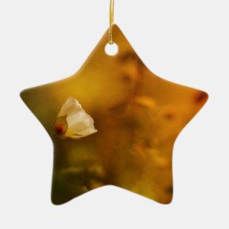 Morning light ceramic ornament