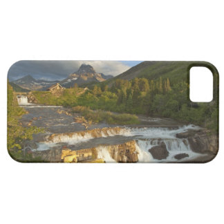 Morning light greets Swiftcurrent Falls in the iPhone 5 Cases
