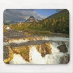 Morning light greets Swiftcurrent Falls in the Mouse Pads