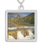 Morning light greets Swiftcurrent Falls in the Custom Jewelry