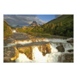 Morning light greets Swiftcurrent Falls in the Photo Art