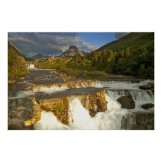 Morning light greets Swiftcurrent Falls in the Poster