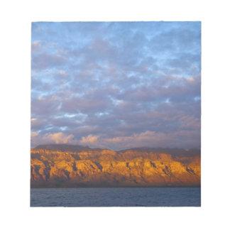 Morning light greets the Sierra de la Giganta Notepad