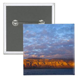 Morning light greets the Sierra de la Giganta Pinback Button