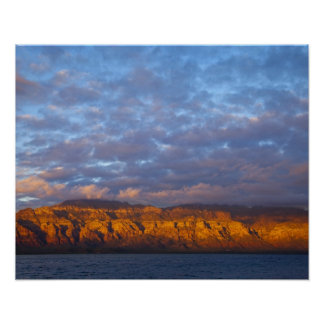 Morning light greets the Sierra de la Giganta Posters