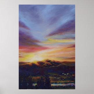 Morning Light in CHB Sunrise Painting Poster